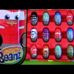 Lightning McQueen Tin Can Mighty Beanz Cars 2 Storage Case Store Display 42 beanz Disney Pixar toys