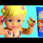 Little Mommy Bubbly Bathtime Color Changing Baby Doll Princess Sofia the First Finger Bath Paint