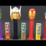 Marvel Avengers Hulk Iron Man Thor Captain America Pez Candy Dispensers Set of 4