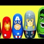 Marvel Avengers Nesting Dolls Playset Hulk, Thor, Captain America, Iron-Man And Nick Fury