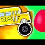 Monster Truck School Bus Vol. 1 | Surprise Eggs Learn Colors | Monster Trucks Colour Video for Kids