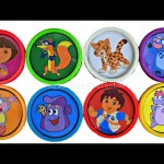 NickJr Dora The Explorer Play Doh Cans Surprises Toy Sofia the First Doc McStuffins Shopkins Colors