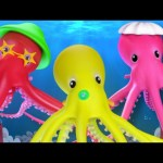 Octopus Finger Family | 3D Nursery Rhymes For Kids | Songs For Childrens