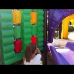 Outdoor playground for kids. Kids playing in funny play place.  VIDEO KIDS TOYS CHANNEL