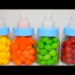 Baby Bottle Candy  Skittles Surprise Toys for Kids  Shopkins  Minions Hello Kitty.