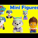Paw Patrol Mini Figures Everest, Ryder, and Robo Dog
