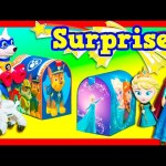 PAW PATROL Nickelodeon + Disney Frozen Surprise Mailboxes Surprise Eggs Candy + Toys Video