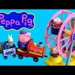 Peppa Pig Amusement Theme Park Ride Playset Ferris Wheel & Train Parque de Atracciones