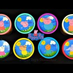 Peppa Pig Play doh Cans Surprises Toys George Mummy & Daddy Pig Inside Out Paw Patrol  Mickey Mouse.