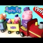 Peppa Pig Riding Grandpa Train – El Tren del Abuelo – Trenecito Del Abuelo Nickelodeon Play-Doh