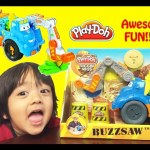 Play Doh Buzzsaw All Woodcutter Diggin' Rigs playset Playdough review unbox