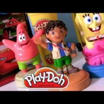 Play Doh Diego Stamper Spongebob Squarepants Dora the Explorer Disney Cars 2 Playset Nickelodeon