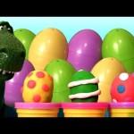 Play Doh Dinosaurs Surprise Eggs Tyrannosaurus Rex Toy Story PlayDoug Chomposaurus T-Rex Dinosaur