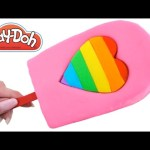 Play Doh How to Make a Giant Ice Cream Popsicle RainbowLearning