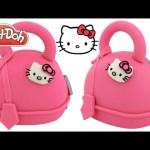 Play Doh How to Make a Hello Kitty Handbag Cake RainbowLearning