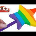 Play Doh How to Make a Rainbow Star Popsicle Ice Cream * Creative Fun for Kids RainbowLearning