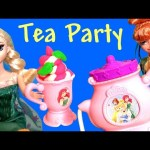 Play Doh Sparkle Belle's Tea Party Set with Disney Frozen Fever Anna Elsa Disney Kids Toys