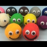 Play Dough Googly Eyes Smiley Face with Peppa Pig Molds Fun for Kids