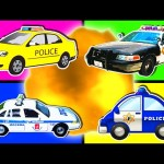 Police Cars for Kids Collection ★Learning Videos & Nursery Rhymes ★ Surprise Eggs & Police Cars