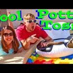 POTTY TOSS! Swimming Pool Family Fun Game Gross Poop + Little Tikes Giant Waffle Blocks Carnival Fun