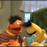 Sesame Street – Ernie is loud while Bert reads