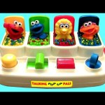 Sesame Street Talking Pop Up Pals with Cookie Monster ELMO Zoe Talking Baby toys