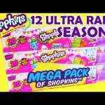 Shopkins Season 4 MEGA PACKS with 12 ULTRA RARE and 14 PETKINS Finds