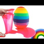 Slime Clay Surprise Egg Teletubbies Shopkins Hello Kitty Spongebob Simpsons Minions RainbowLearning