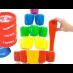 SLIME Clay Tower Surprise Learn Colors Peppa Pig Frozen Inside Out RainbowLearning