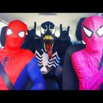 Spiderman vs Pink Spidergirl vs Venom Dancing in a Car – Funny Superhero Movie In Real Life