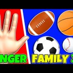 SPORTS BALLS Finger Family 3D Surprise Eggs Indoor Playground | Color Songs For Kids Nursery Rhymes