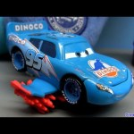 Storm Lightning Mcqueen blue Dinoco from Disney Cars Pixar figure Mattel similar to Comic-Con