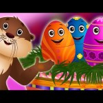 Surprise Eggs Nursery Rhymes Toys | Sea Otter Rhyme | Learn Colours, & Sea Animals | ChuChuTV