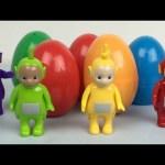 Teletubbies Surprise Eggs For Children With Noo Noo Po Laa Laa Dipsy Tinky Winky Figurines Toys