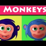 Ten Little Monkeys 3D Rhymes | Nursery Rhymes & Kids Songs | 3D Rhymes