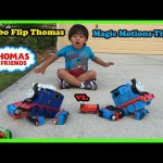 Thomas and Friends kid playing with Train Toys Turbo Flip Thomas Remote Control Toys Ryan ToysReview