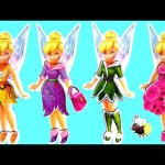 Tinkerbell Dress-up Wooden Magnetic Fashion Dolls by Disney Fairies Mix and Match Dress