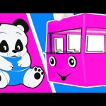 Wheels On The Bus | PANDA Family | Song for Kids Toddlers | Nurserey Rhyme | Animated Surprise Eggs