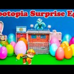 ZOOTOPIA Disney Zootopia Surprise Eggs Lion Guard + Paw Patrol Zootopia Surprise Eggs Video