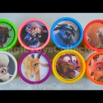 ZOOTOPIA Play Doh Cans Surprises  Disney Toys  Inside Out Shopkins Zootropolis