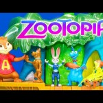 ZOOTOPIA SCOOBY ALVIN and DOC MCSTUFFINS Crazy Case with Silly String Prank Disney Video Toy Parody
