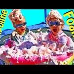 Giant Surprise Toys Foam Pool & TRAMPOLINE Mr Bubble Foam Bath Soap Kids & Family Fun