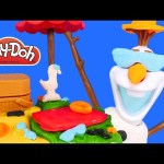 NEW Play Doh Summertime Olaf Picnic * Disney Frozen Playdough Beach
