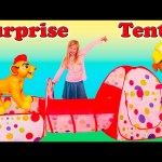 SURPRISE PLAYHOUSE Tent Worlds Largest Paw Patrol + Lion Guard + Little Charmers Surprise Toys Video