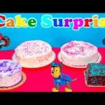 CAKE SURPRISE Challenge Cake Surprise Paw Patrol + Blaze + Scooby Doo Surprise Candy Toys Video