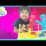 Rock 'em Sock 'em Robots Family Fun Classic Game for kids Surprise Toy Car Ryan ToysReview