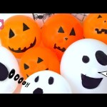 Halloween  Balloons  surprise pumpkin & ghost toys Frozen Inside Out Hello Kitty MLP