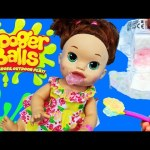 Baby Alive EATS BOOGER BALLS! Gross Slime Boogers DIY Maker & Diaper Change DisneyCarToys
