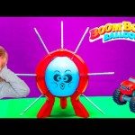 BOOM BOOM BALLOON Game Paw Patrol Challenge Blaze Play Boom Boom Balloon Game Toys Video