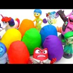 ⭐︎Disney Pixar INSIDE OUT Play Doh Surprise EGGS toys  Hello Kitty